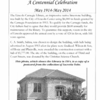 The Lincoln Carnegie Library : A Centennial Celebration, May 1914 - May 2014