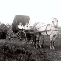 Victor Golden and J. H. Naysmitrh on Naysmith farm Abt 1898.JPG