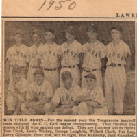 Lawrence Journal-World Clipping - C.C. Carl League Championship