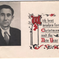 Christmas Card from Rev. Wesley Tillinghast
