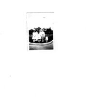 94. Bill O'Neill Flower Bed Front Row Rose and Betty Bird.  Back row Dorothy Bird, Grandma Rosa Dubois, Meta Rice and Roy Rice.pdf
